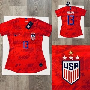 Alex Morgan #13 nike women soccer jersey USA Away